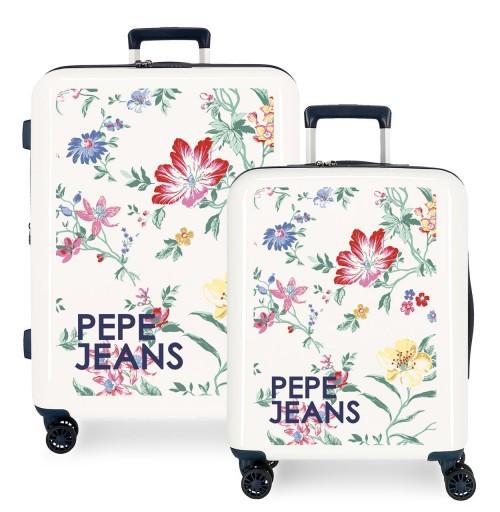 7199761 juego maletas cabina y mediana pepe jeans leven maze