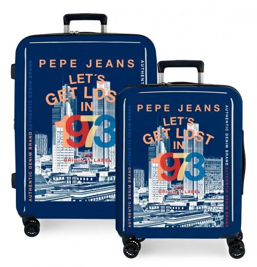 7199765 juego maletas cabina y mediana pepe jeans leven connoe