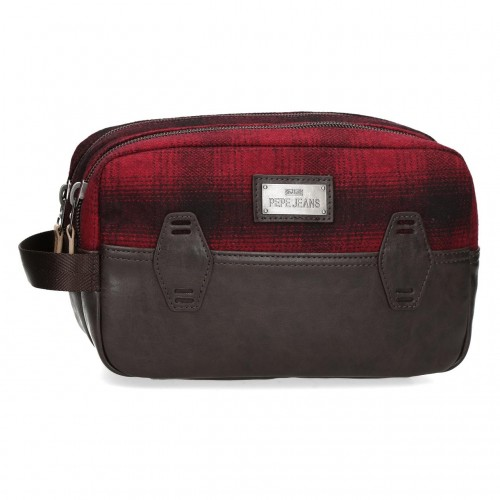 7324422 Neceser Doble Compartimento Pepe Jeans Scotch Rojo