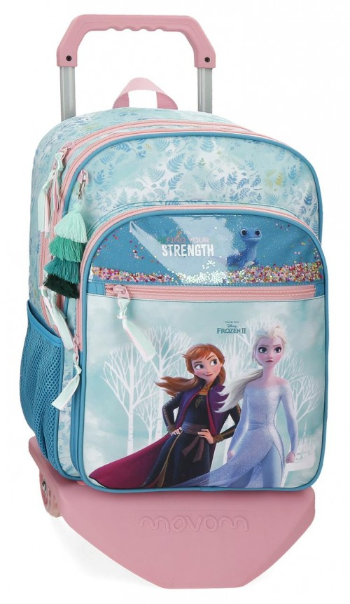 20624T1  mochila 42 cm doble c. con carro  Frozen Find Your Strenght