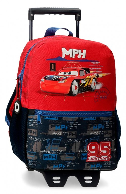 20822T1 mochila 32cm con carro cars roquet racing