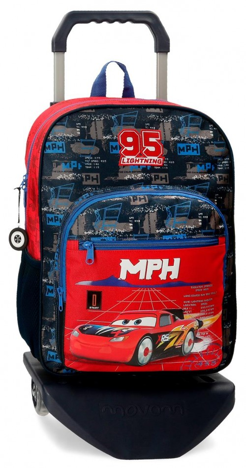 20823T1  mochila mediana 38cm con carri cars roquet racing