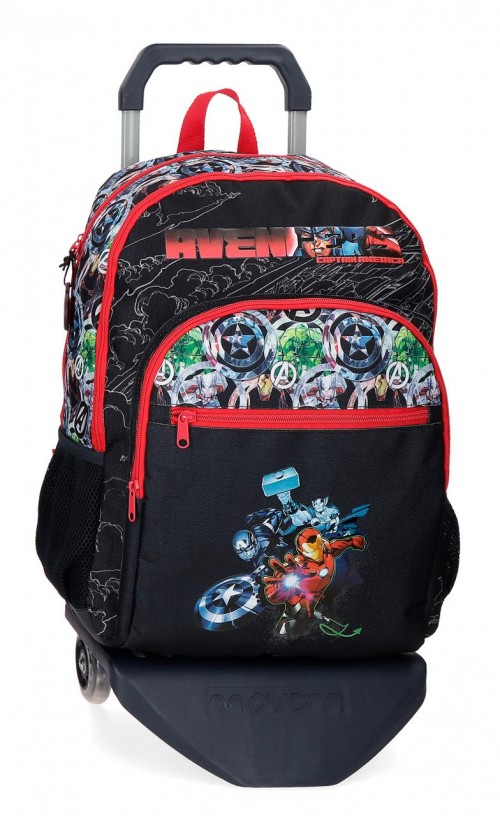 20926T1  mochila 44cm con carro reforzada adaptable avengers armour up