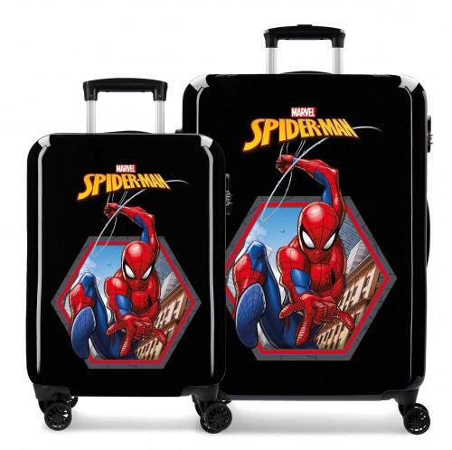 2411965 juego maletas cabina y mediana spiderman geo negro