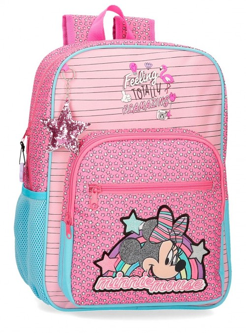 2512361 mochila 38 cm adaptable minnie pink vibes
