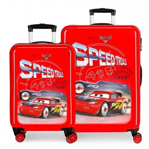 4031921 juego maletas cabina y mediana 55/68cm cars speed trials