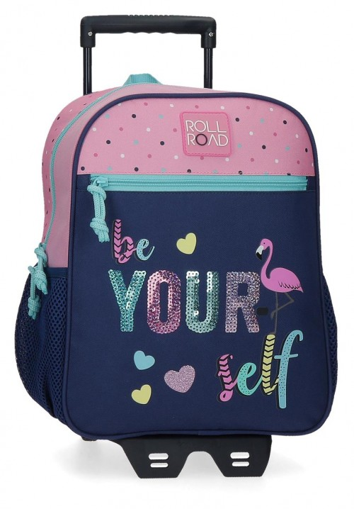 40922T1 mochila pequeña 33 cm con carro Roll Road Be Yourself