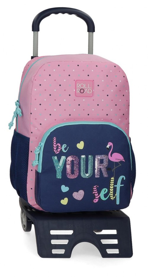 40923T1  mochila grande 40 cm con carro Roll Road Be Yourself