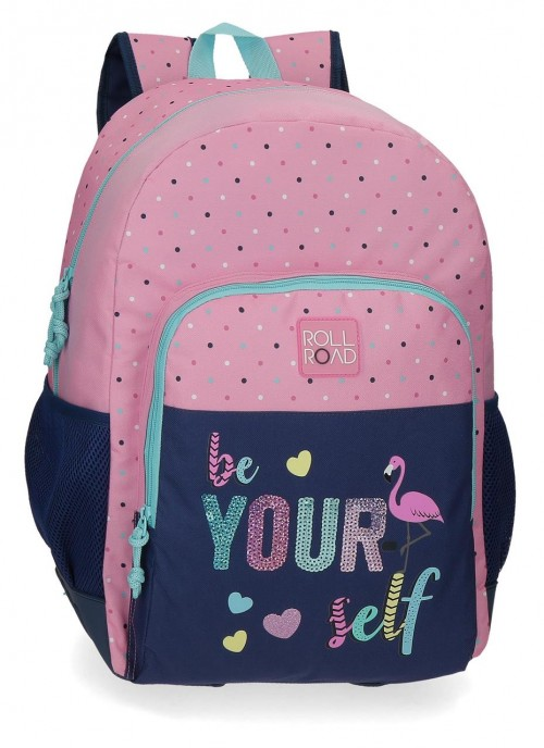 40925D1 mochila 46 cm cantoneras Roll Road Be Yourself