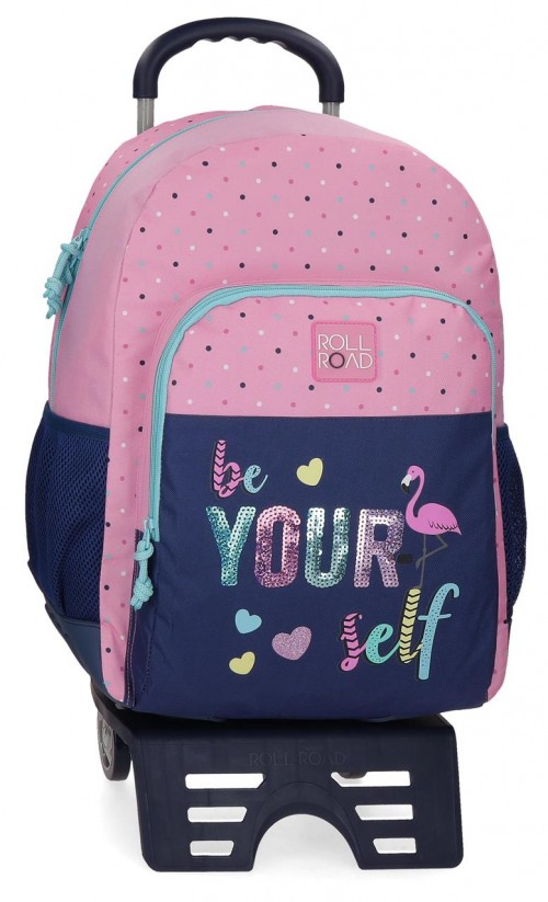 40925T1 mochila 46 cm cantoneras y con carro Roll Road Be Yourself