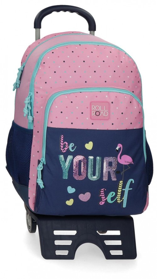 40926T1 mochila 46 m doble c. con carro Roll Road Be Yourself