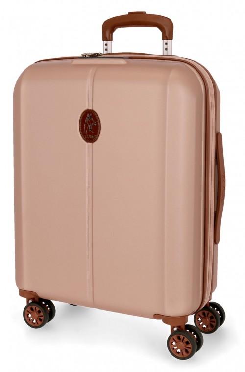 5128723  maleta cabina abs el potro new ocuri  rosa