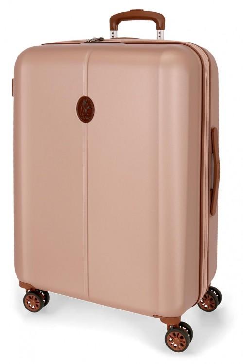 5128823 maleta mediana abs el potro new ocuri rosa