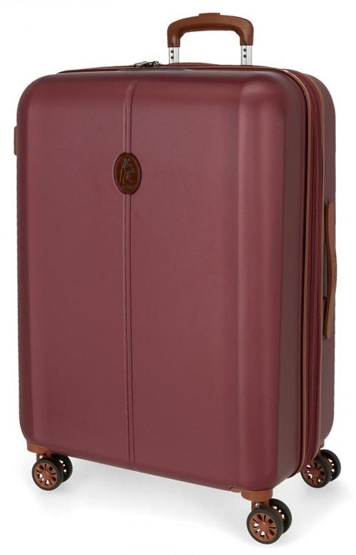 5128824 maleta mediana abs el potro new ocuri rojo