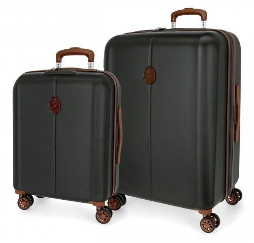 5128921  juego de maleta cabina y mediana abs el potro new ocuri antracita