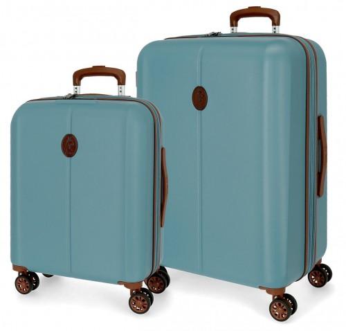 5128922 juego de maleta cabina y mediana abs el potro new ocuri azul