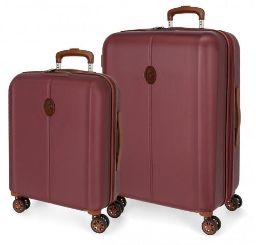 5128924  juego de maleta cabina y mediana abs el potro new ocuri  rojo