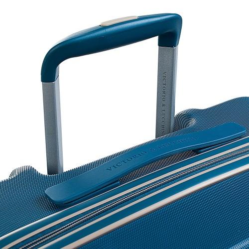 5606002 Maleta Mediana Victorio & Lucchino Mercurio Azul 4 ruedas dobles asa y tirador