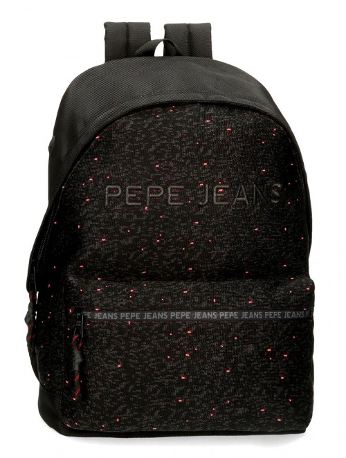 6492361 mochila portaordenador 42 cm pepe jeans hike negro