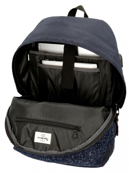 6492362 mochila portaordenador 42 cm pepe jeans hike azul