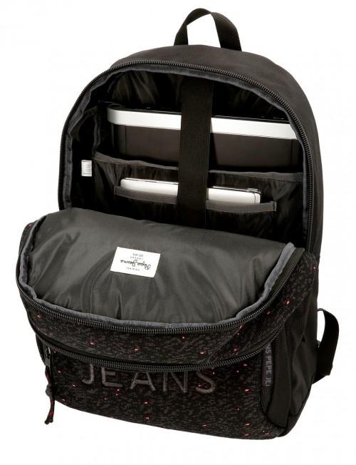 6492561 mochila 46cm doble c. pepe jenas hike negro