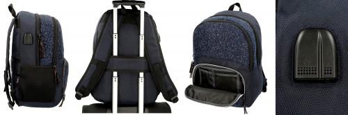6492562 2 mochila 46cm doble c. pepe jenas hike azul