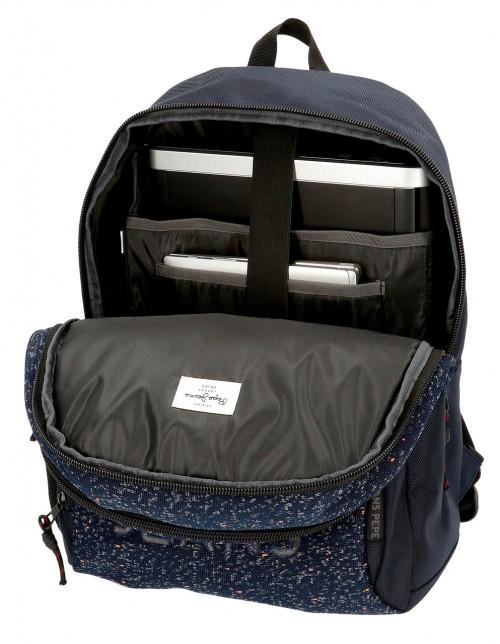 6492562 mochila 46cm doble c. pepe jenas hike azul