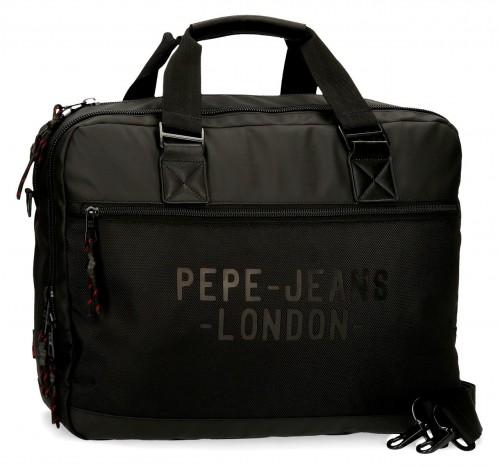 7166621 cartera portaordenador-tablet pepe jeans bromley en negro