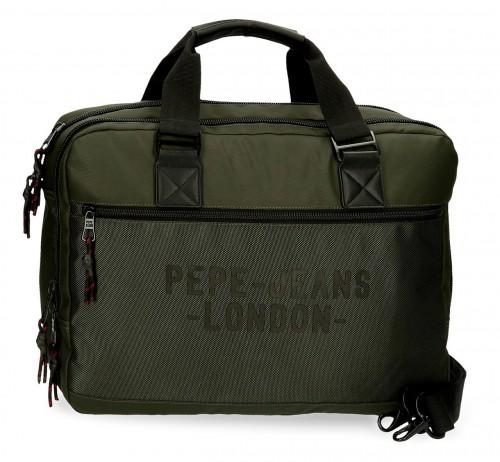 7166622 cartera portaordenador-tablet pepe jeans bromley en verde