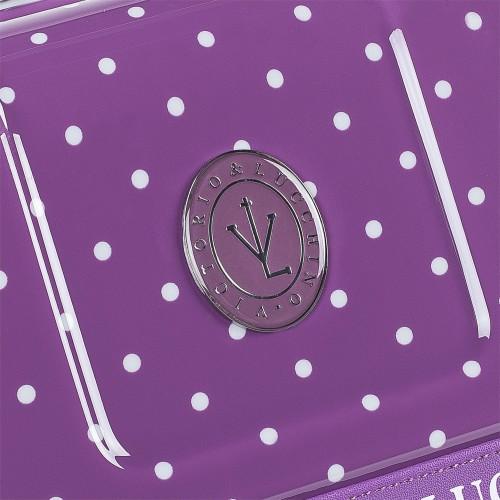 8016008 maleta mediana victorio & lucchino lunares malva detalle