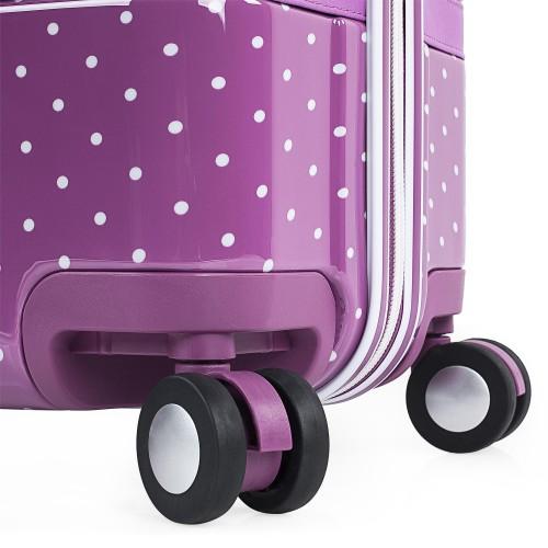 8016008 maleta mediana victorio & lucchino lunares malva ruedas dobles