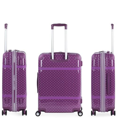 8016008 maleta mediana victorio & lucchino lunares malva vista lateral y trasera