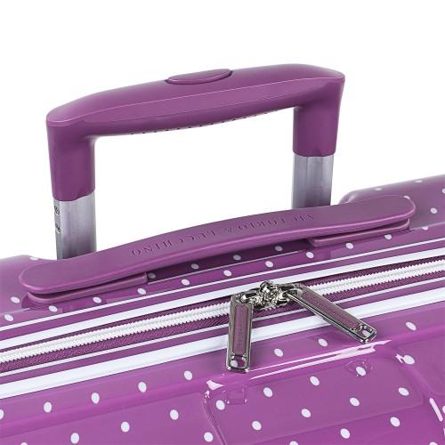 8015008 maleta cabina victorio & lucchino lunares malva detalle del tirador