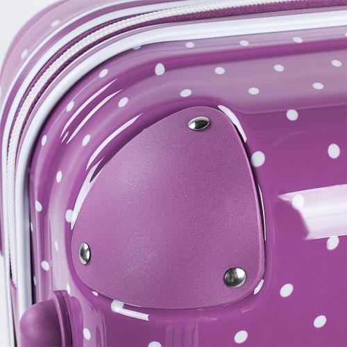 8015008 maleta cabina victorio & lucchino lunares malva cantoneras reforzadas