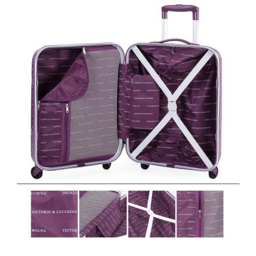 8015008 maleta cabina victorio & lucchino lunares malva interior
