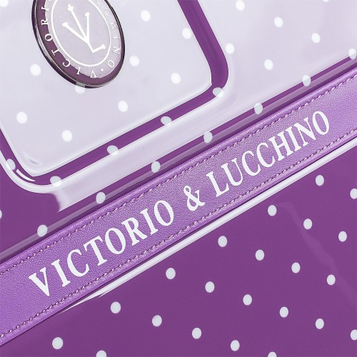 8015008 maleta cabina victorio & lucchino lunares malva detalle