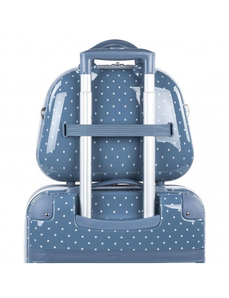 8013507  Neceser Victorio & Lucchino lunares azul adaptable a trolley