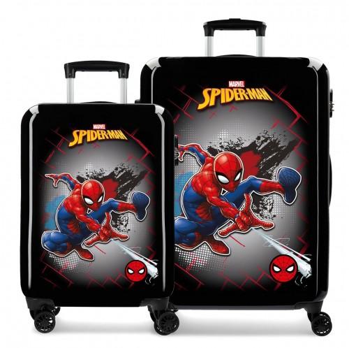 4041921 Juego de Maletas Cabina y Mediana Spiderman Red