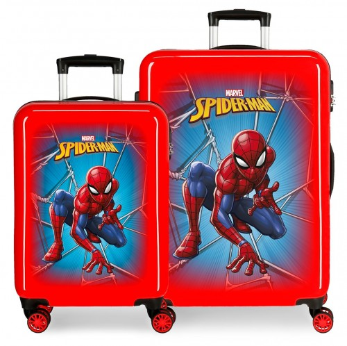 4581931 Juego Maletas Cabina y Mediana Spiderman Black