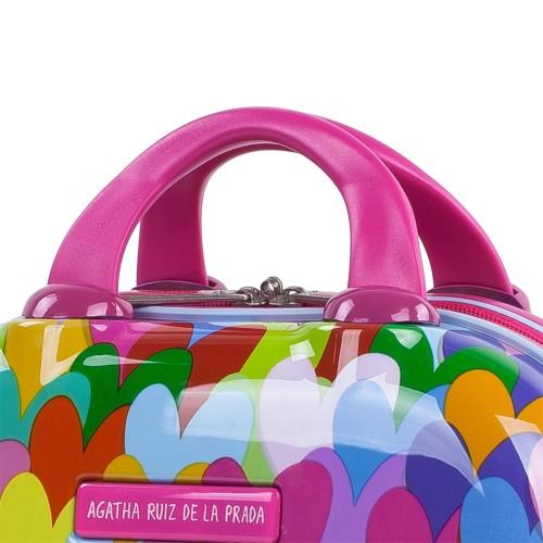 Neceser Agatha Corazones Colores detalle