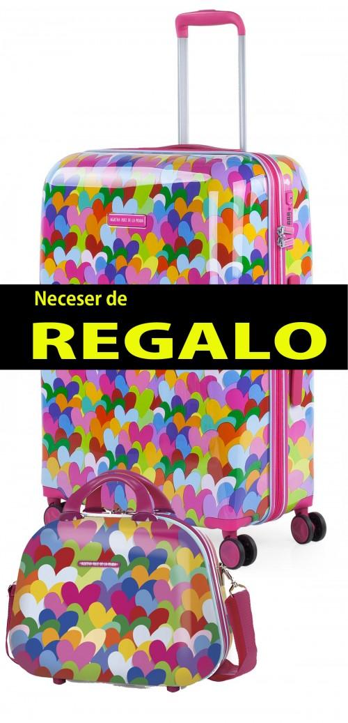 Maleta Mediana Agatha Ruiz de la Prada Corazones Colores