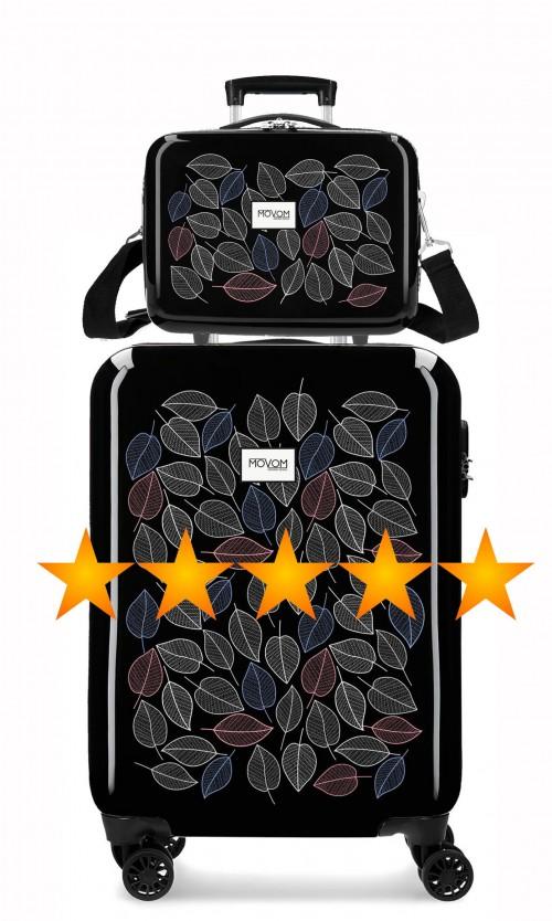 3641761N  maleta de cabina movom leaves+ neceser rígido