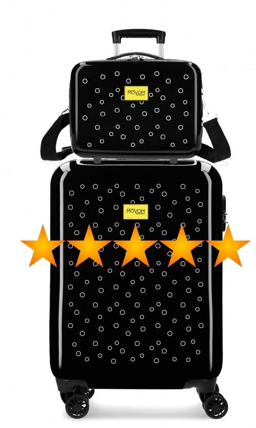 3651762N maleta de cabina movom bubbles amarillo + neceser rígido