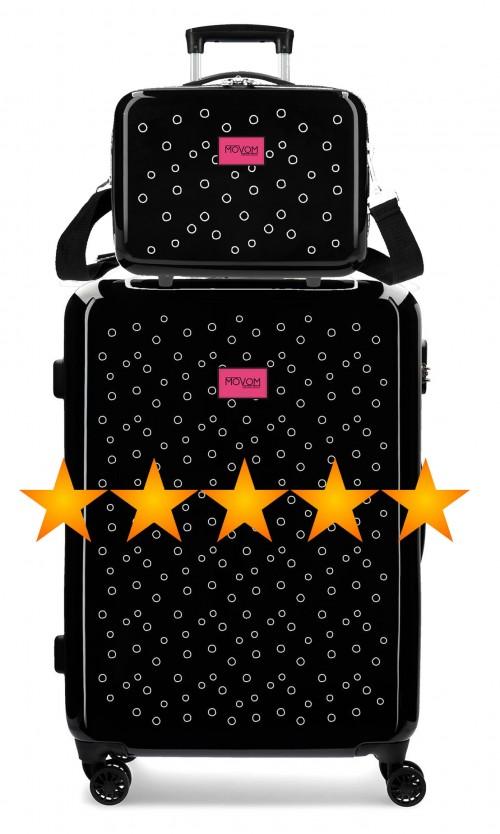 3651861N maleta mediana movom bubbles fucsia + neceser rígido