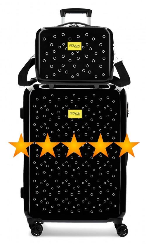 3651862N maleta mediana movom bubbles amarillo + neceser rígido