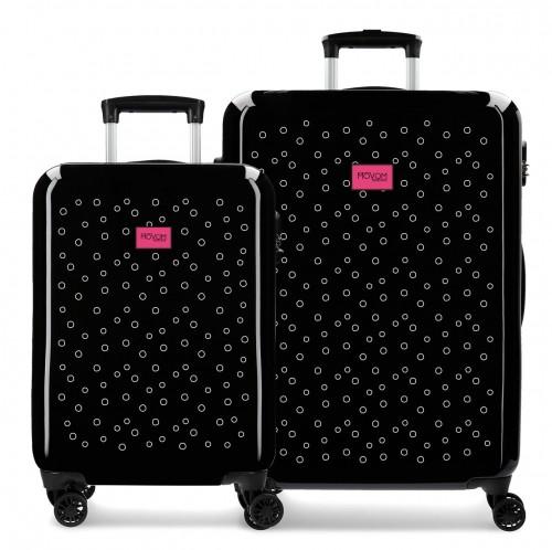 3651961 juego maletas cabina y mediana movom bubbles fucsia