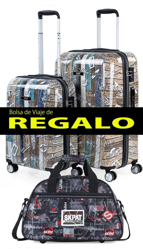 132000 Juego maletas cabina y mediana skpat boards