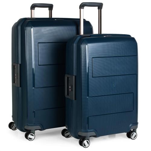 16110001  Juego Maleta Mediana y Grande Jaslen Londres Azul