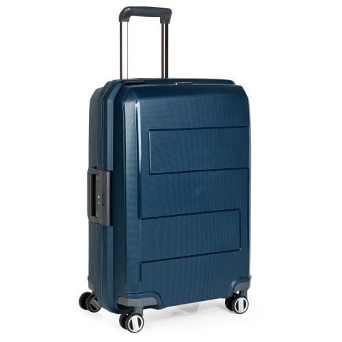 16116001 Maleta Mediana Jaslen Londres en Polipropileno Azul
