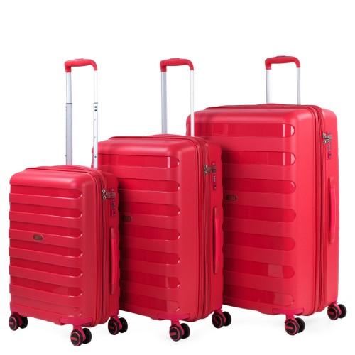 16120003 Juego maletas cabina mediana y grande jaslen roma rojo